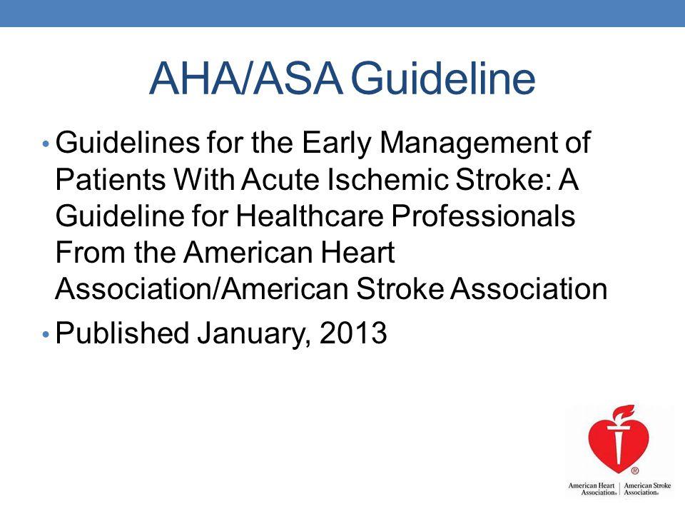 AHA/ASA Guideline