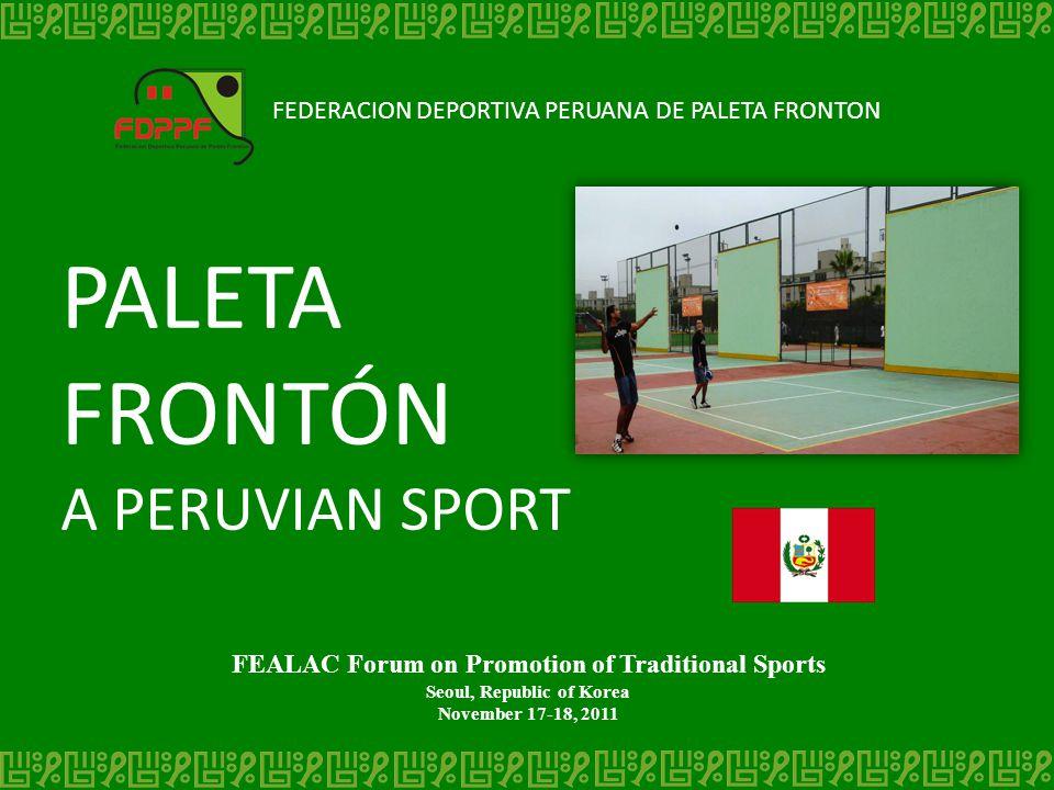 PALETA FRONTÓN A PERUVIAN SPORT