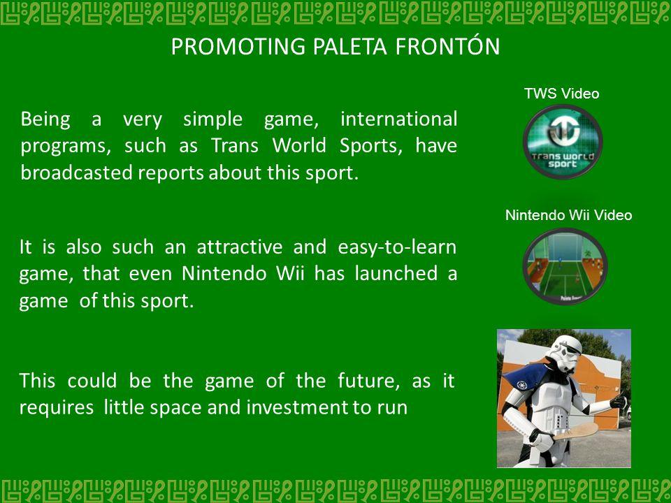 PROMOTING PALETA FRONTÓN