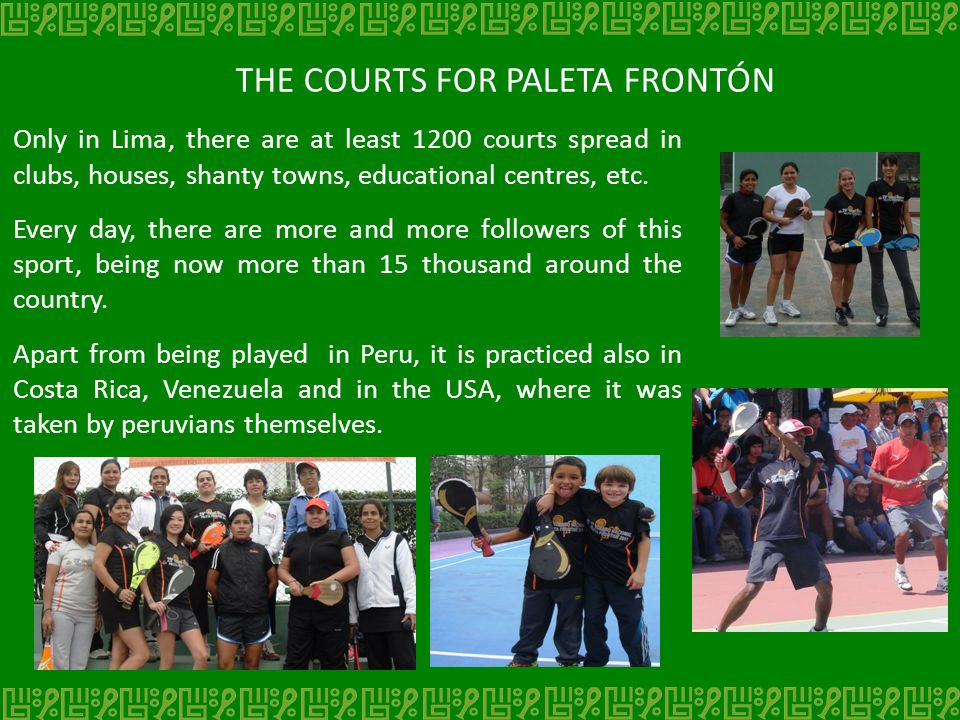 THE COURTS FOR PALETA FRONTÓN