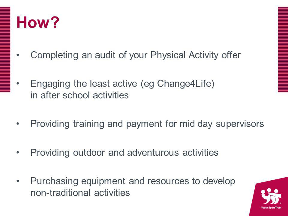 How Completing an audit of your Physical Activity offer