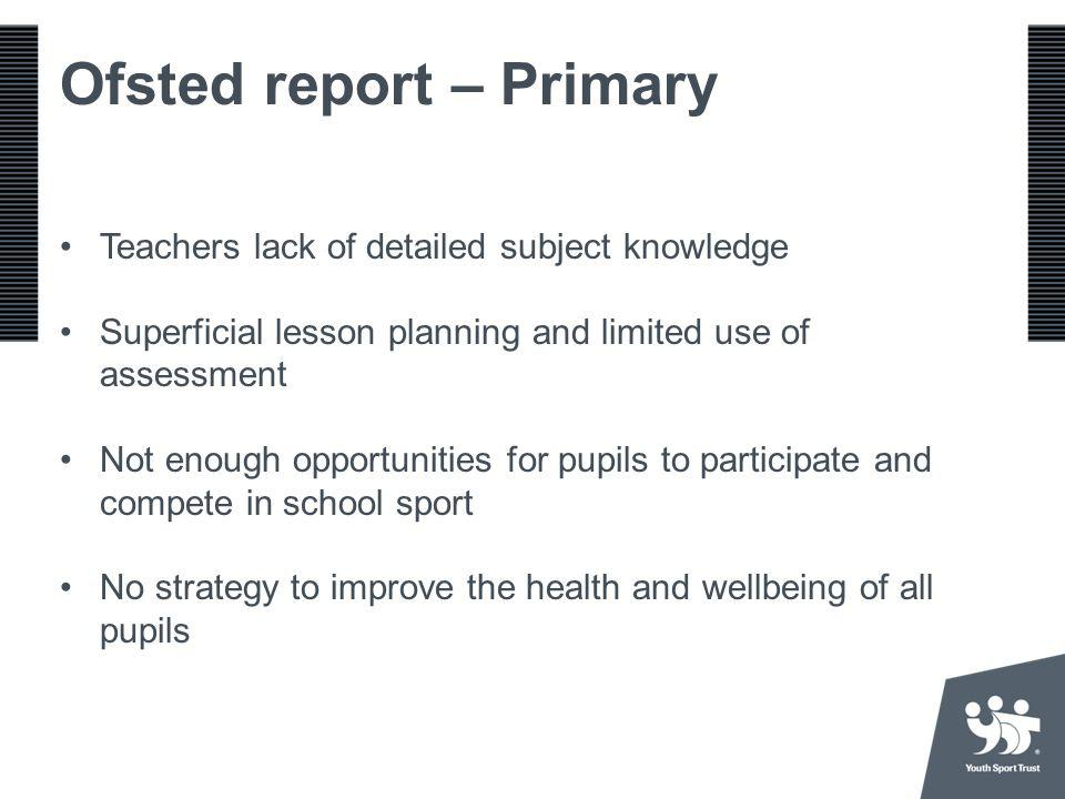 Ofsted report – Primary