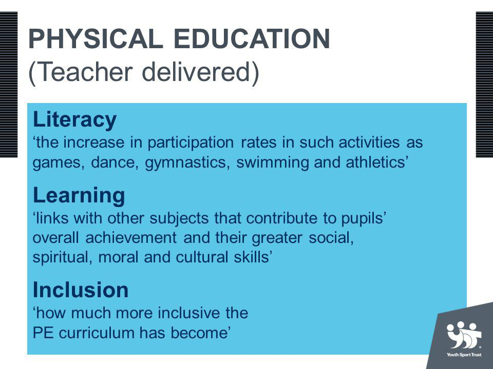 PHYSICAL EDUCATION (Teacher delivered)