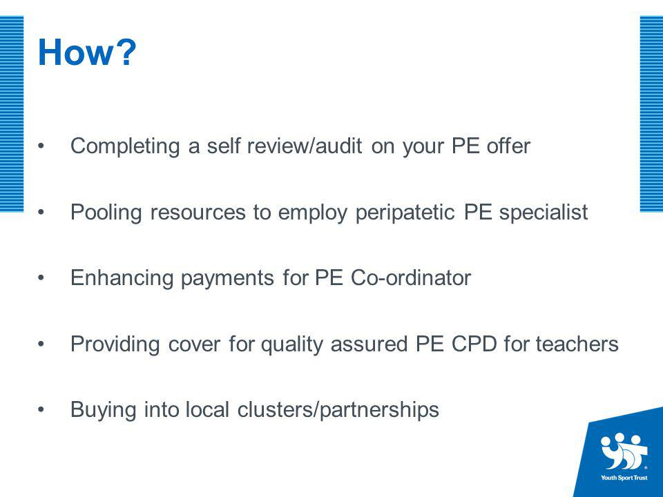 How Completing a self review/audit on your PE offer