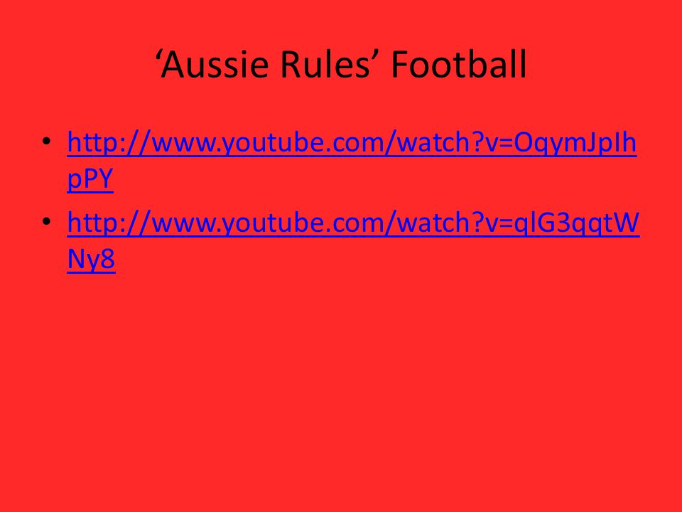 'Aussie Rules' Football