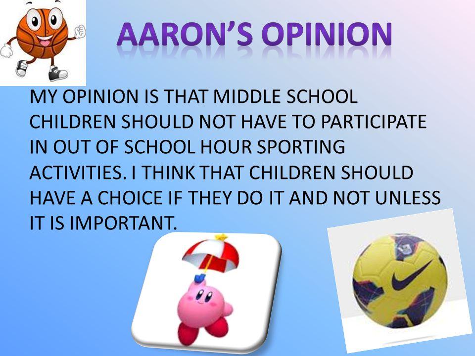 AARON'S OPINION