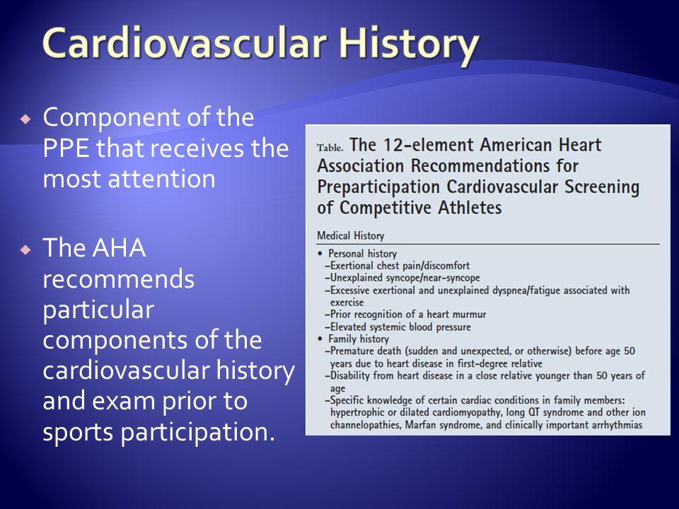 Cardiovascular History