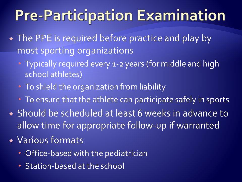Pre-Participation Examination