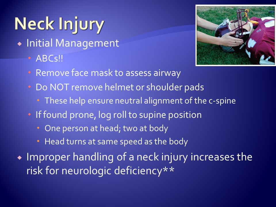 Neck Injury Initial Management