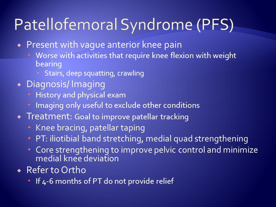 Patellofemoral Syndrome (PFS)