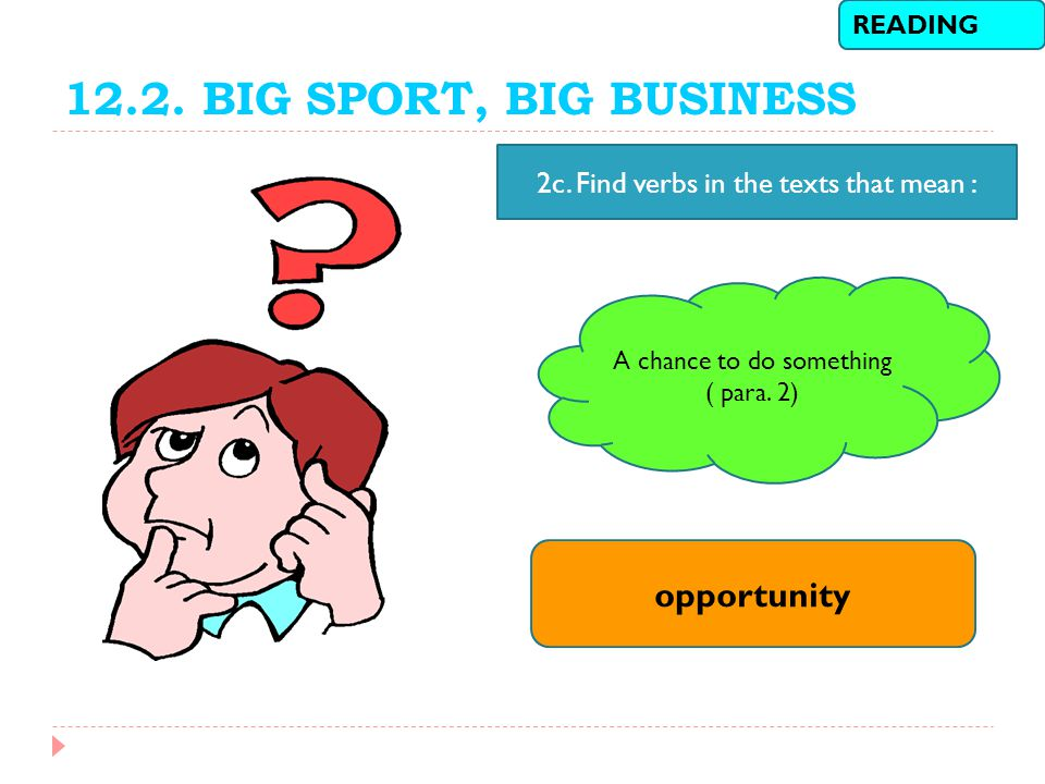 12.2. BIG SPORT, BIG BUSINESS opportunity