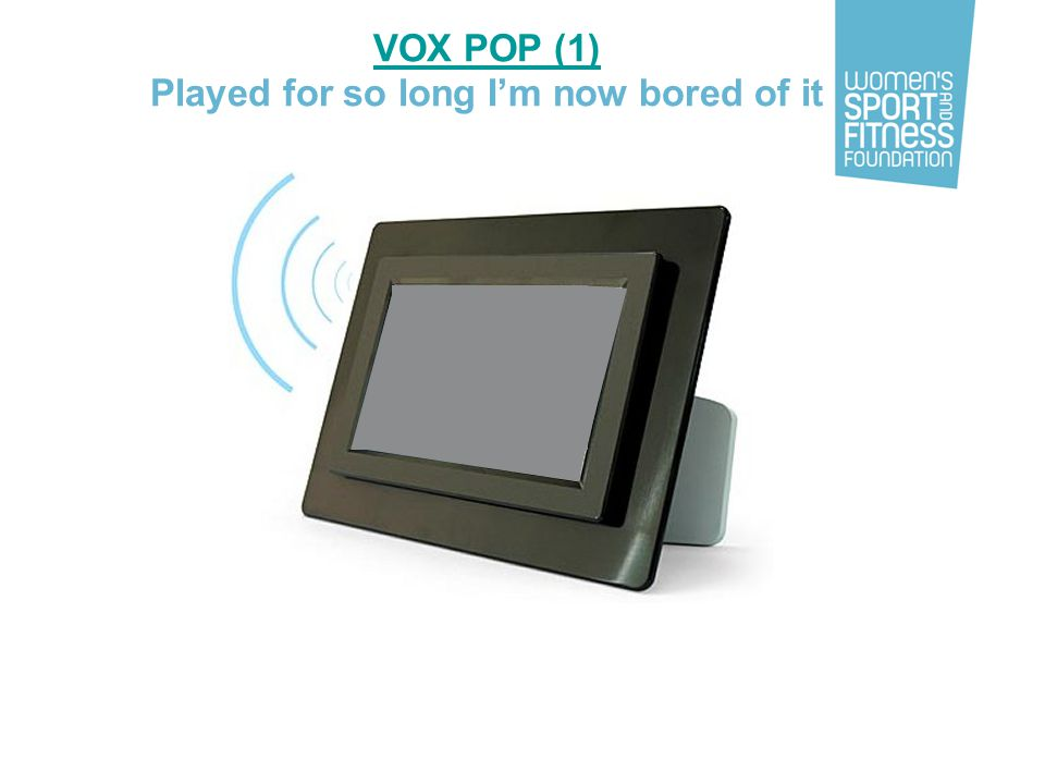 VOX POP (1) Played for so long I'm now bored of it