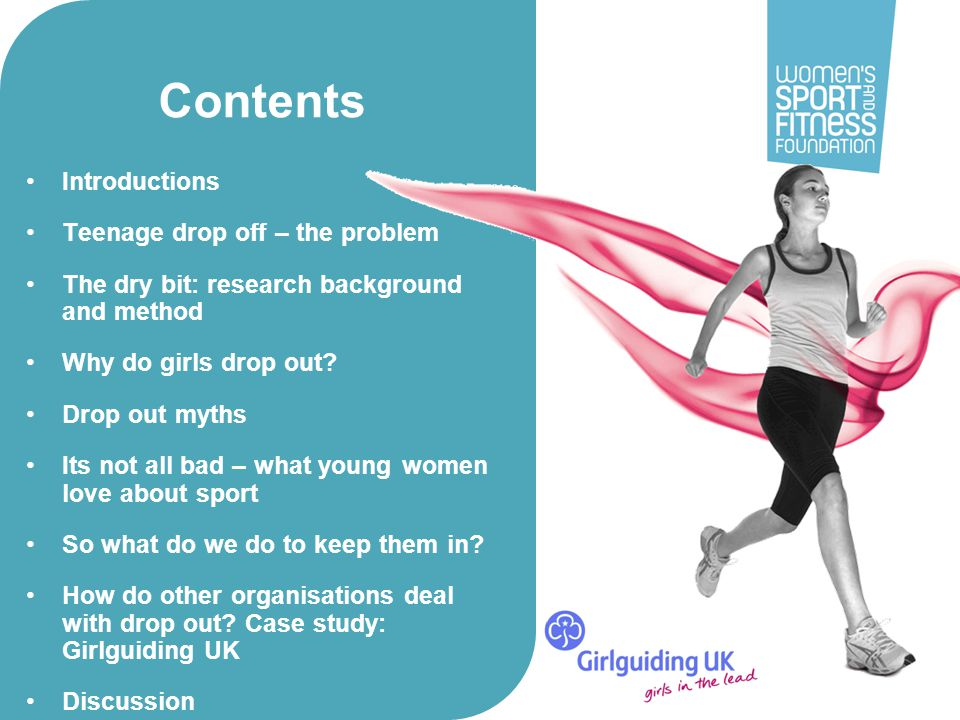 Contents Introductions Teenage drop off – the problem