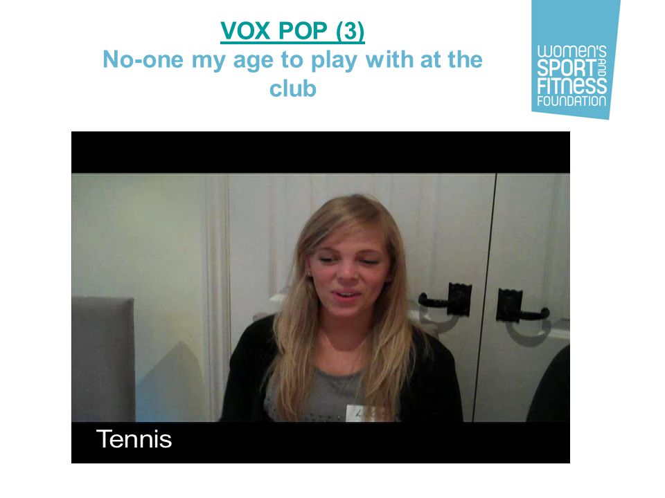 VOX POP (3) No-one my age to play with at the club