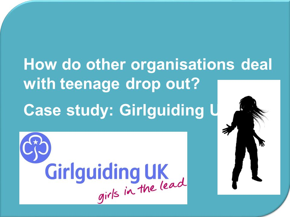 How do other organisations deal with teenage drop out
