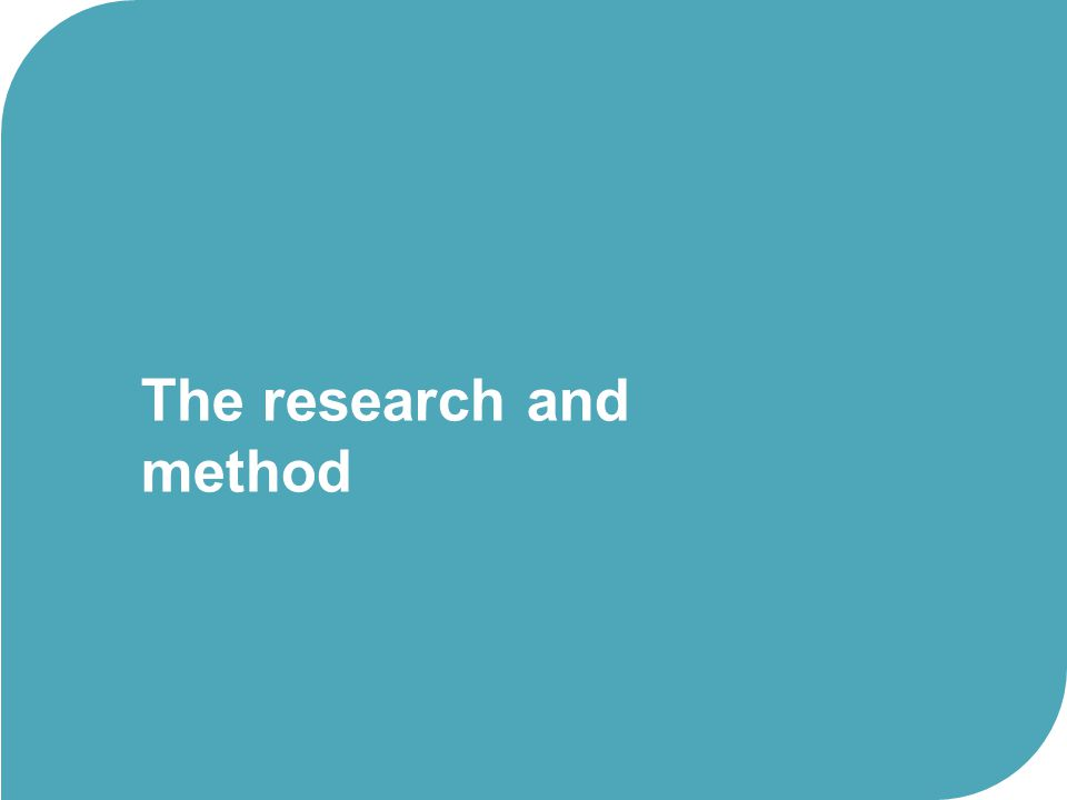 The research and method