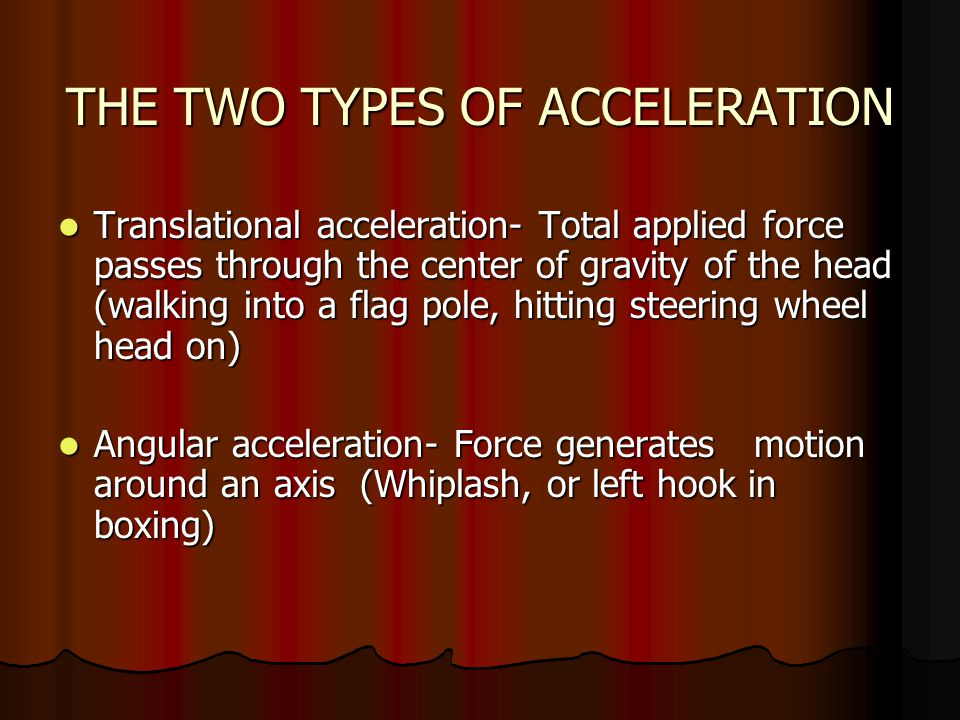 THE TWO TYPES OF ACCELERATION