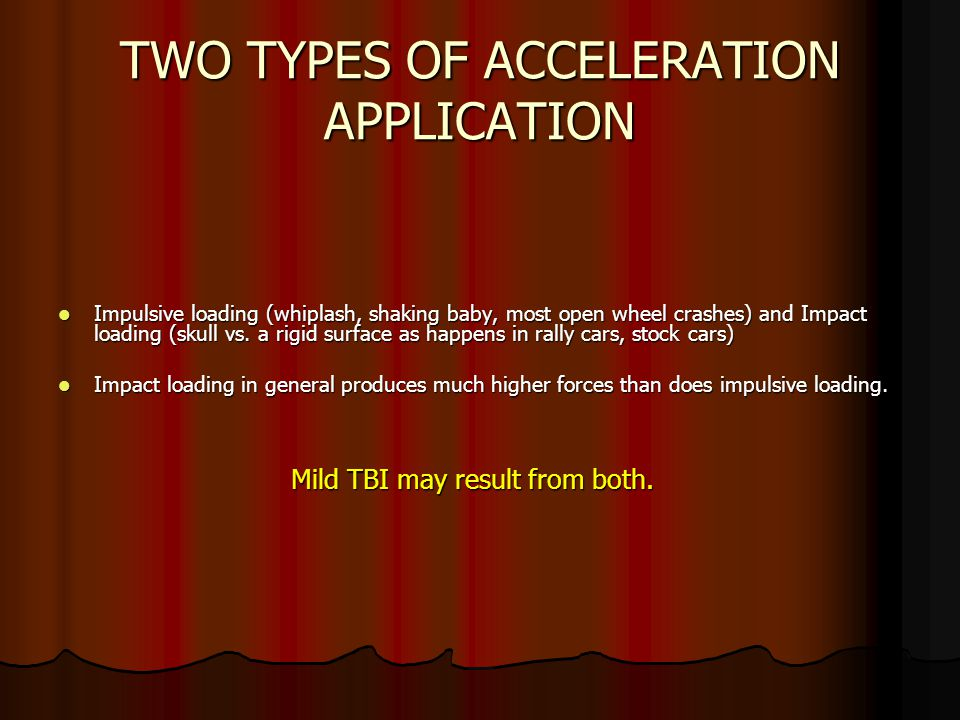 TWO TYPES OF ACCELERATION APPLICATION