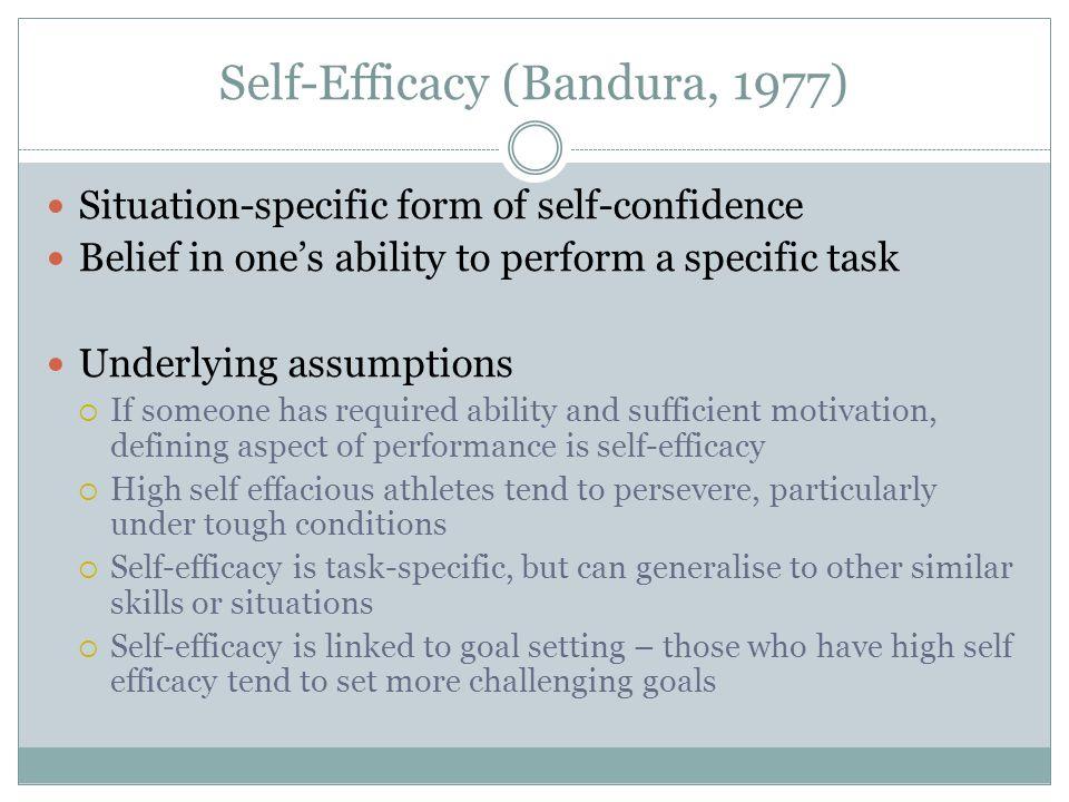 Self-Efficacy (Bandura, 1977)