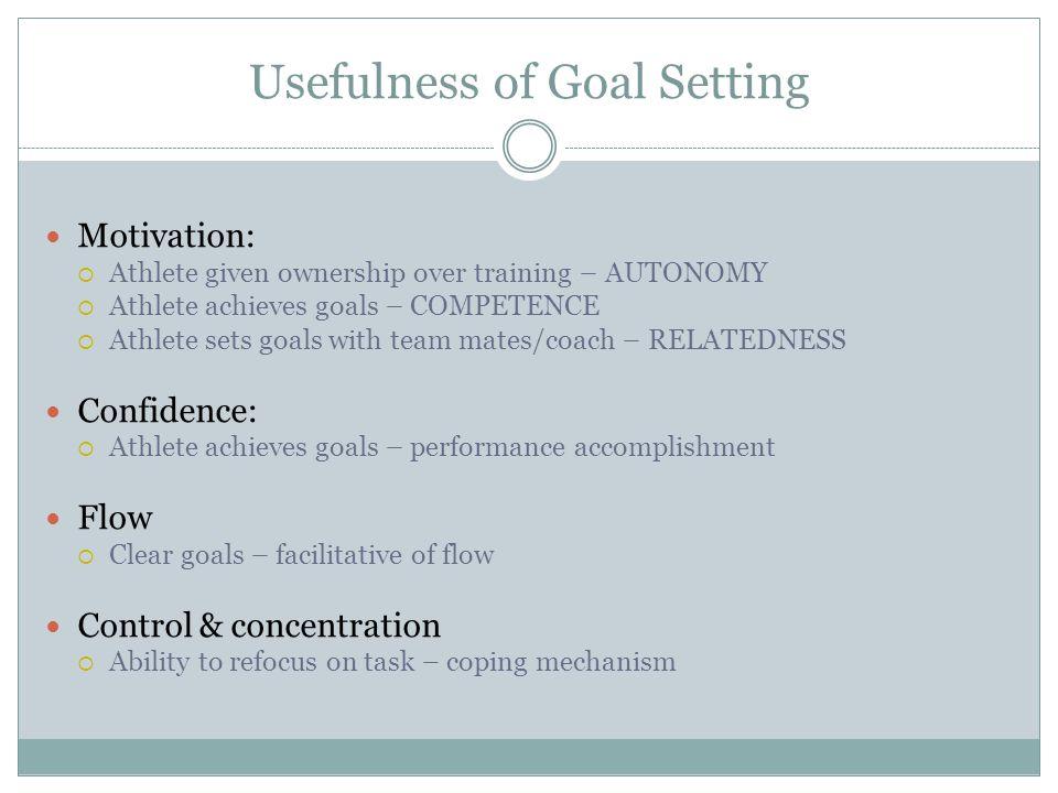 Usefulness of Goal Setting