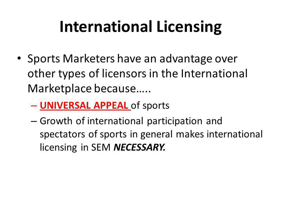 International Licensing
