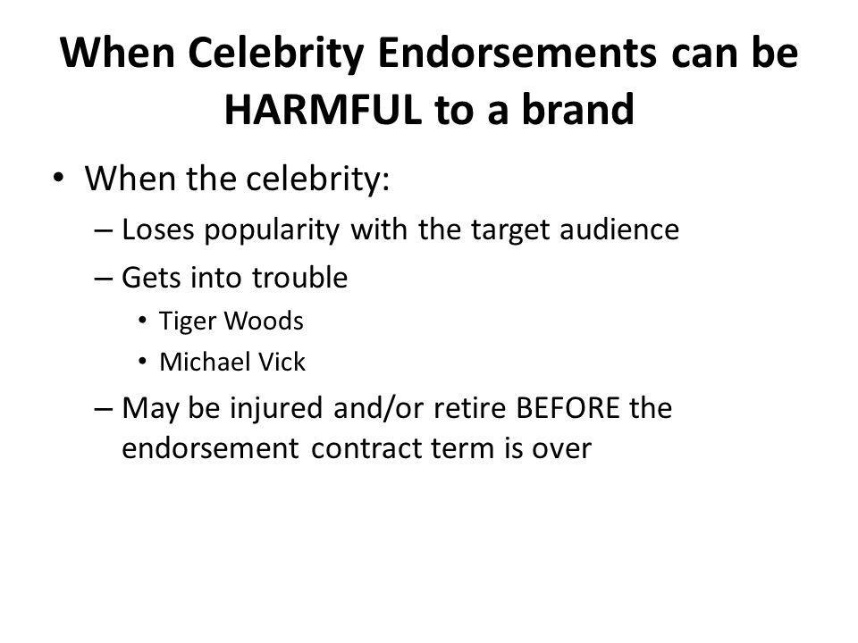 When Celebrity Endorsements can be HARMFUL to a brand