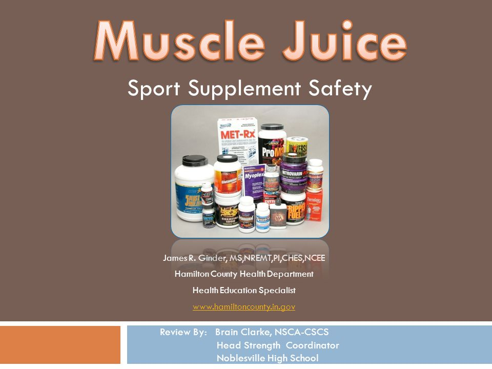 Muscle Juice Sport Supplement Safety