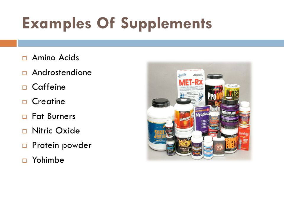 Examples Of Supplements