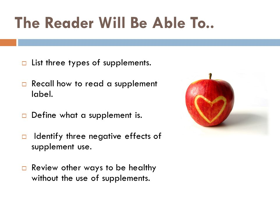 The Reader Will Be Able To..
