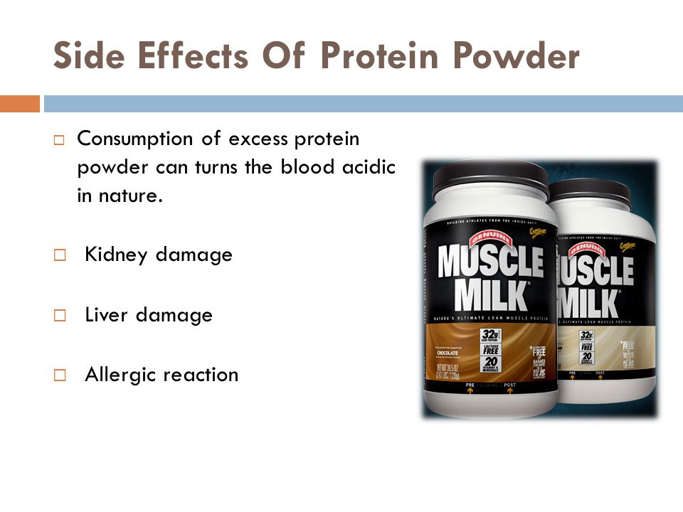 Side Effects Of Protein Powder