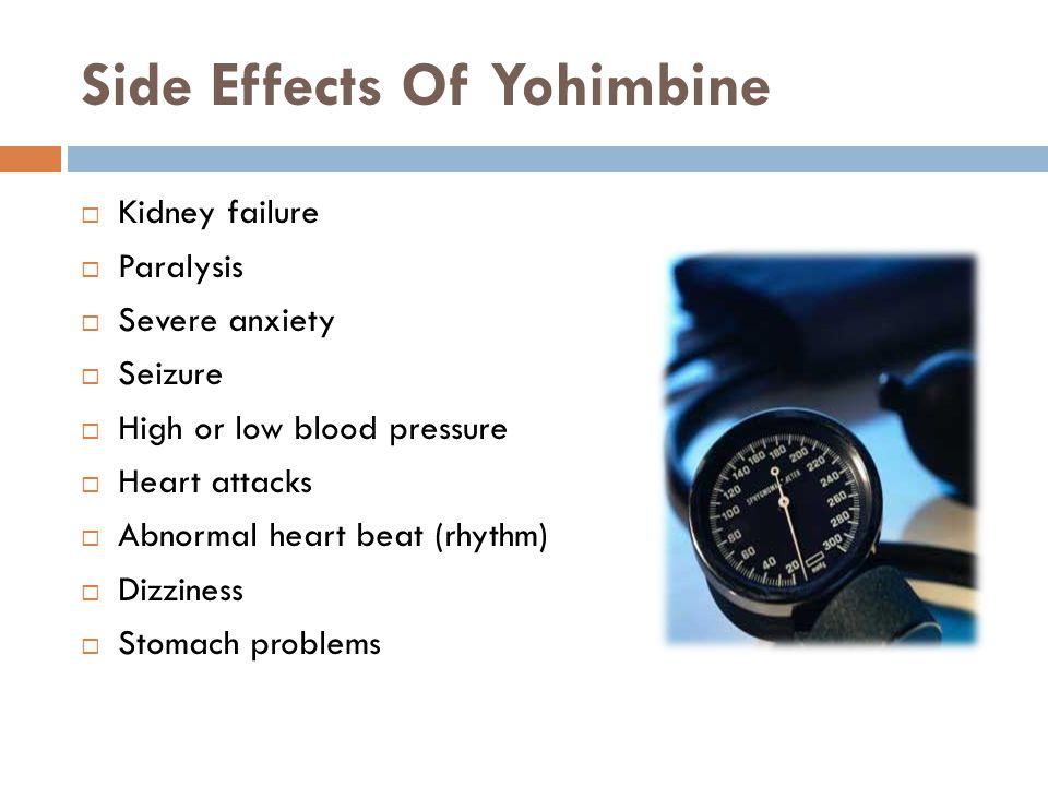 Side Effects Of Yohimbine