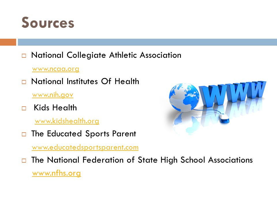 Sources National Collegiate Athletic Association www.ncaa.org