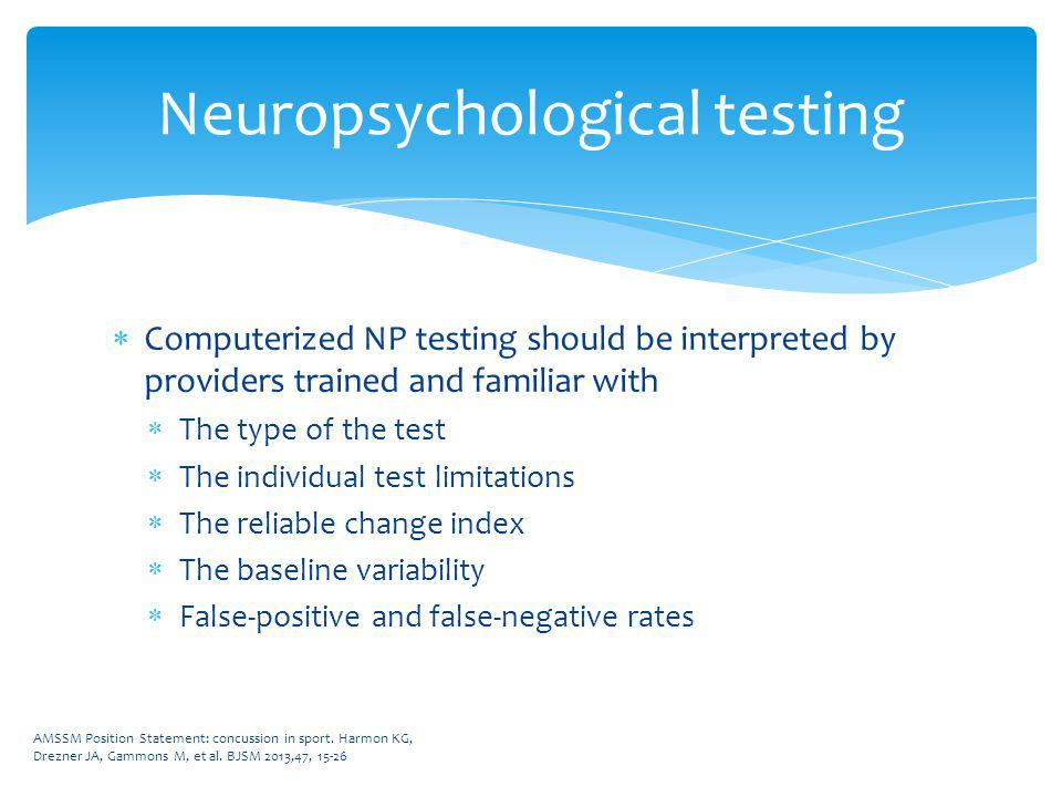 Neuropsychological testing CPT ® codes