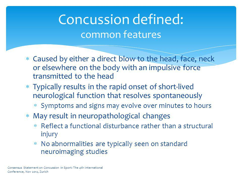 Concussion defined: Neurometabolic cascade