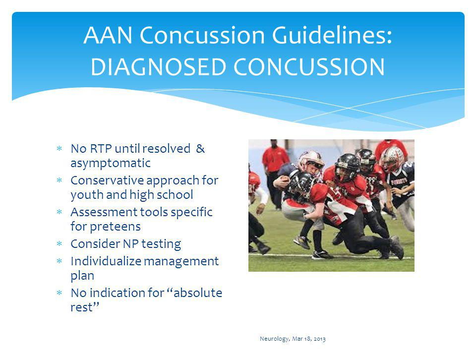 AAN Concussion Guidelines: Multiple concussions
