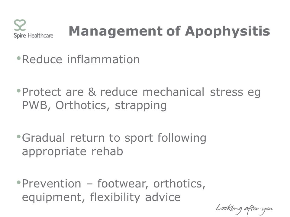 Management of Apophysitis