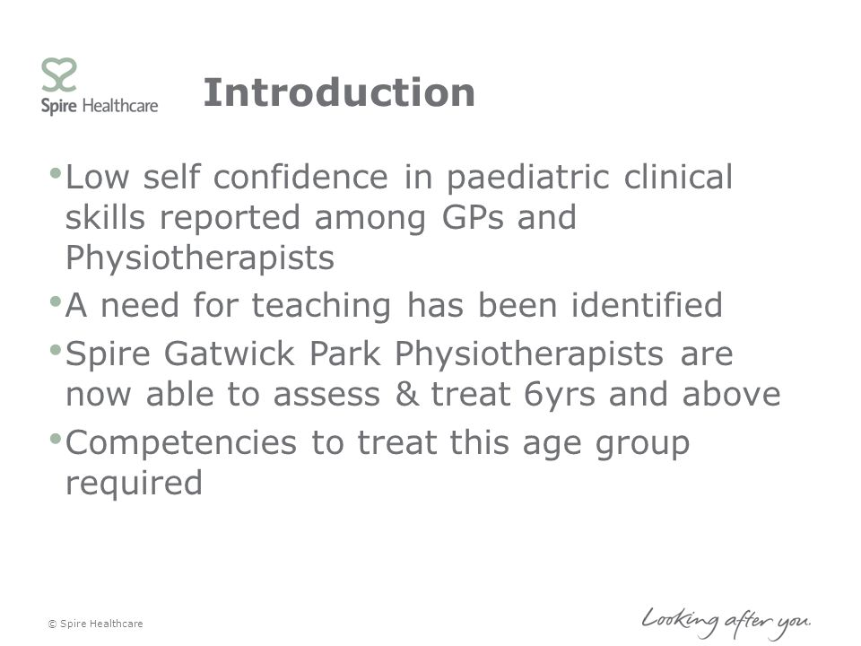Introduction Low self confidence in paediatric clinical skills reported among GPs and Physiotherapists.