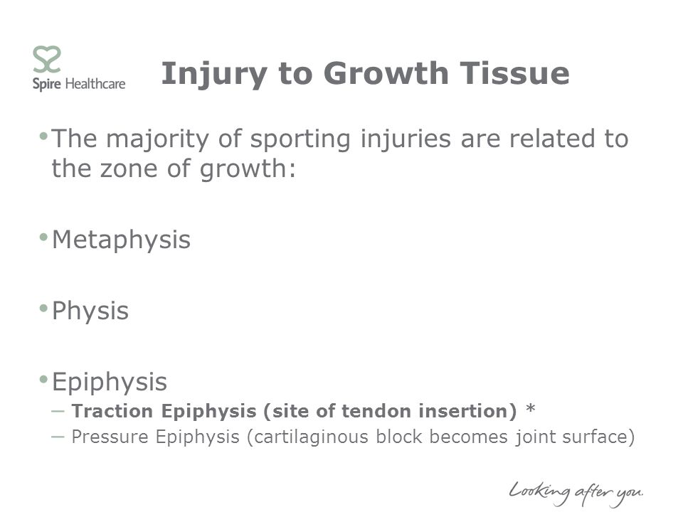 Injury to Growth Tissue