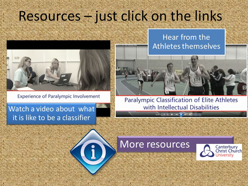 Resources – just click on the links