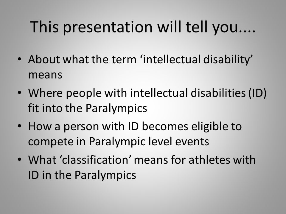 This presentation will tell you....