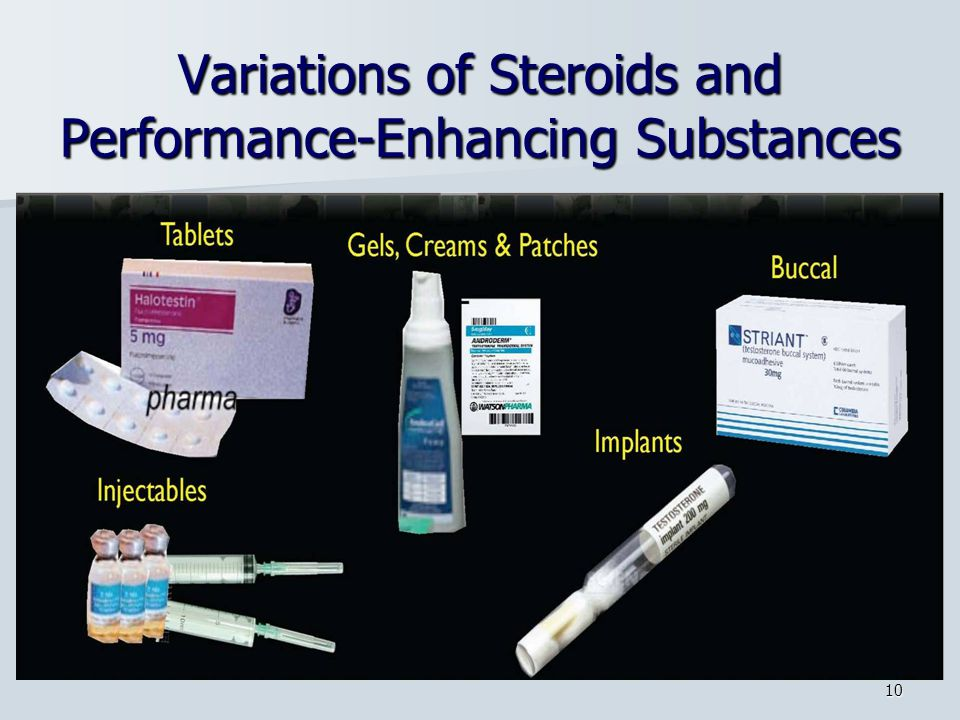 Variations of Steroids and Performance-Enhancing Substances