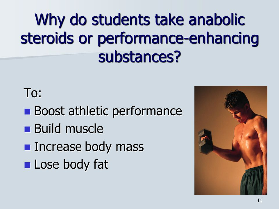 Why do students take anabolic steroids or performance-enhancing substances