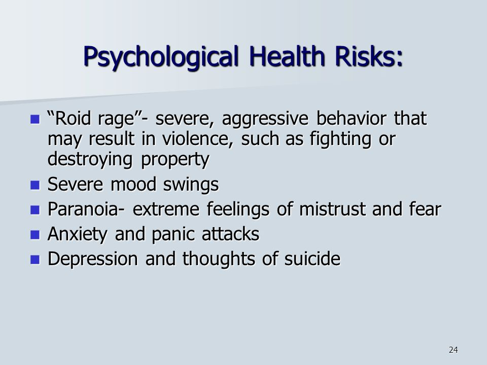 Psychological Health Risks: