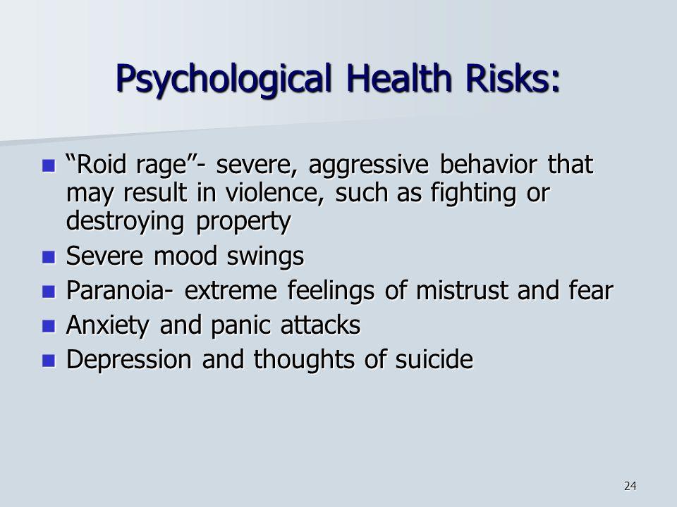 Psychological Health Risks: