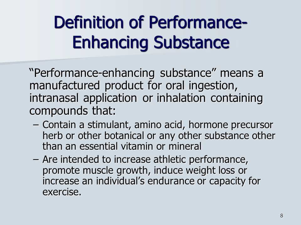 Definition of Performance-Enhancing Substance