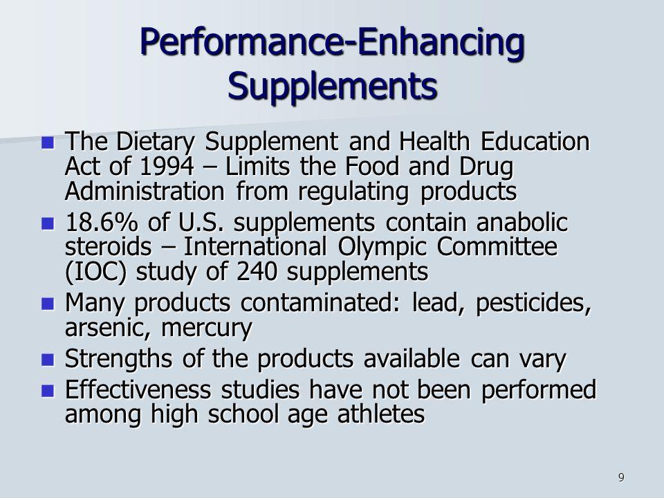 Performance-Enhancing Supplements
