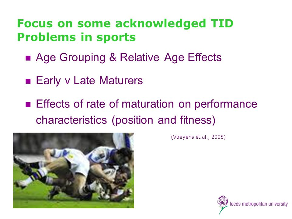 Focus on some acknowledged TID Problems in sports
