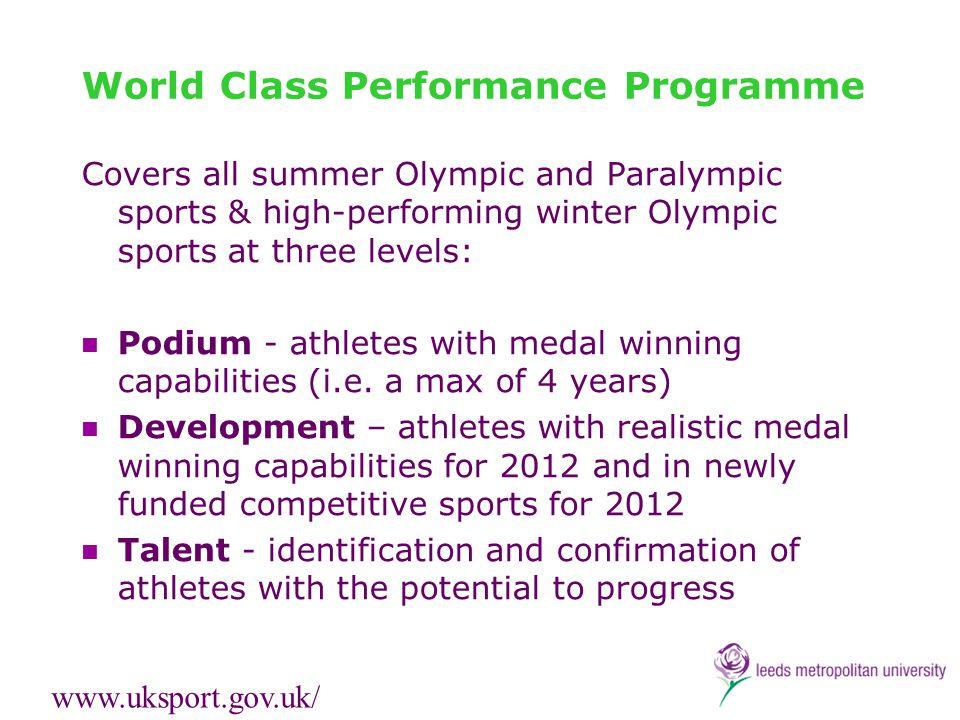 World Class Performance Programme