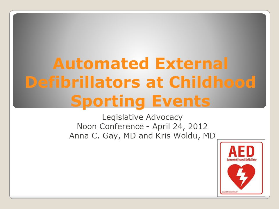 Automated External Defibrillators at Childhood Sporting Events