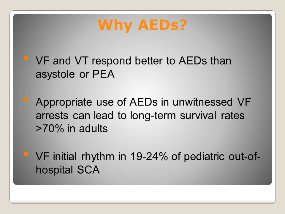 Why AEDs VF and VT respond better to AEDs than asystole or PEA